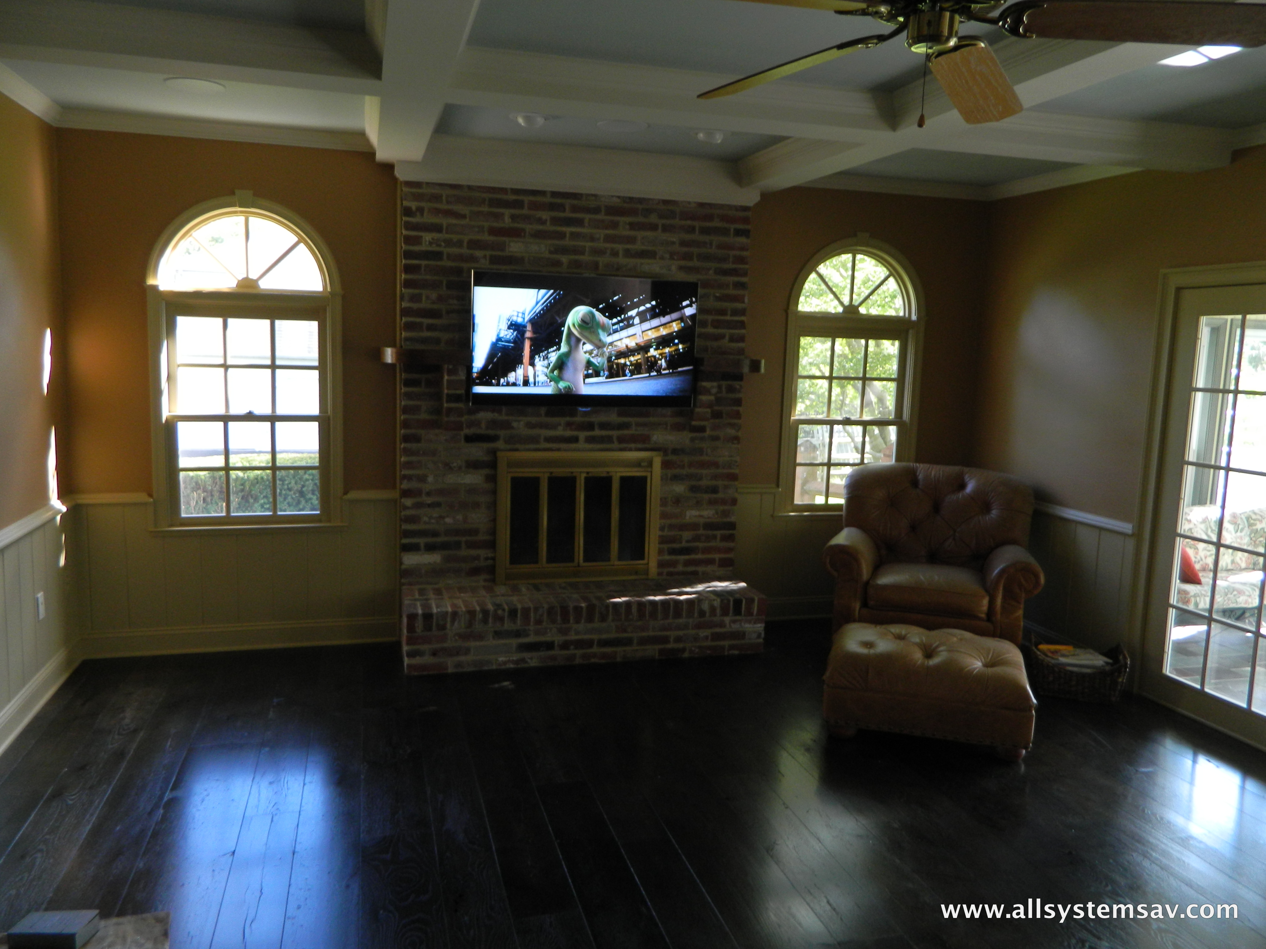 How To Install A Tv On A Brick Wall Installing