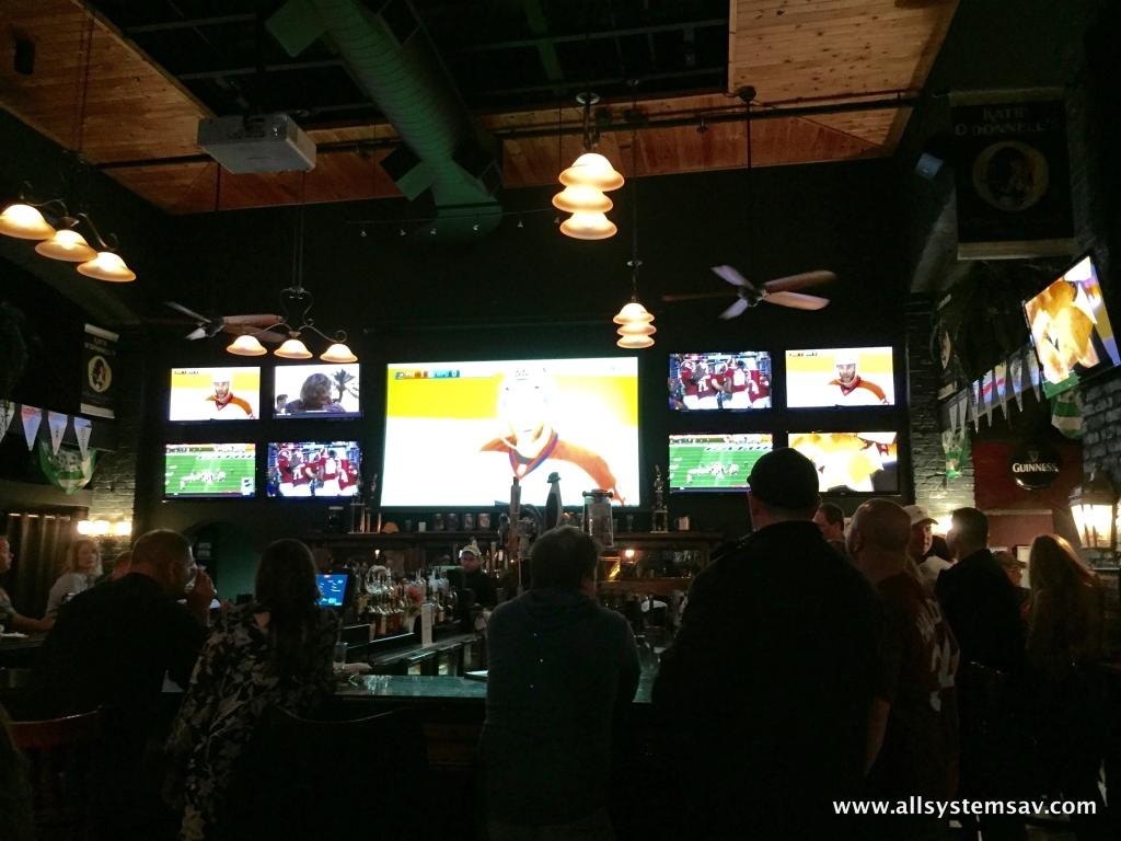 restaurant projector installations