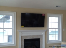 tv overe fireplace