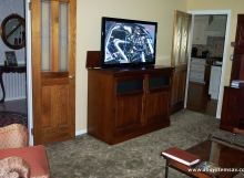 tv open pop up console