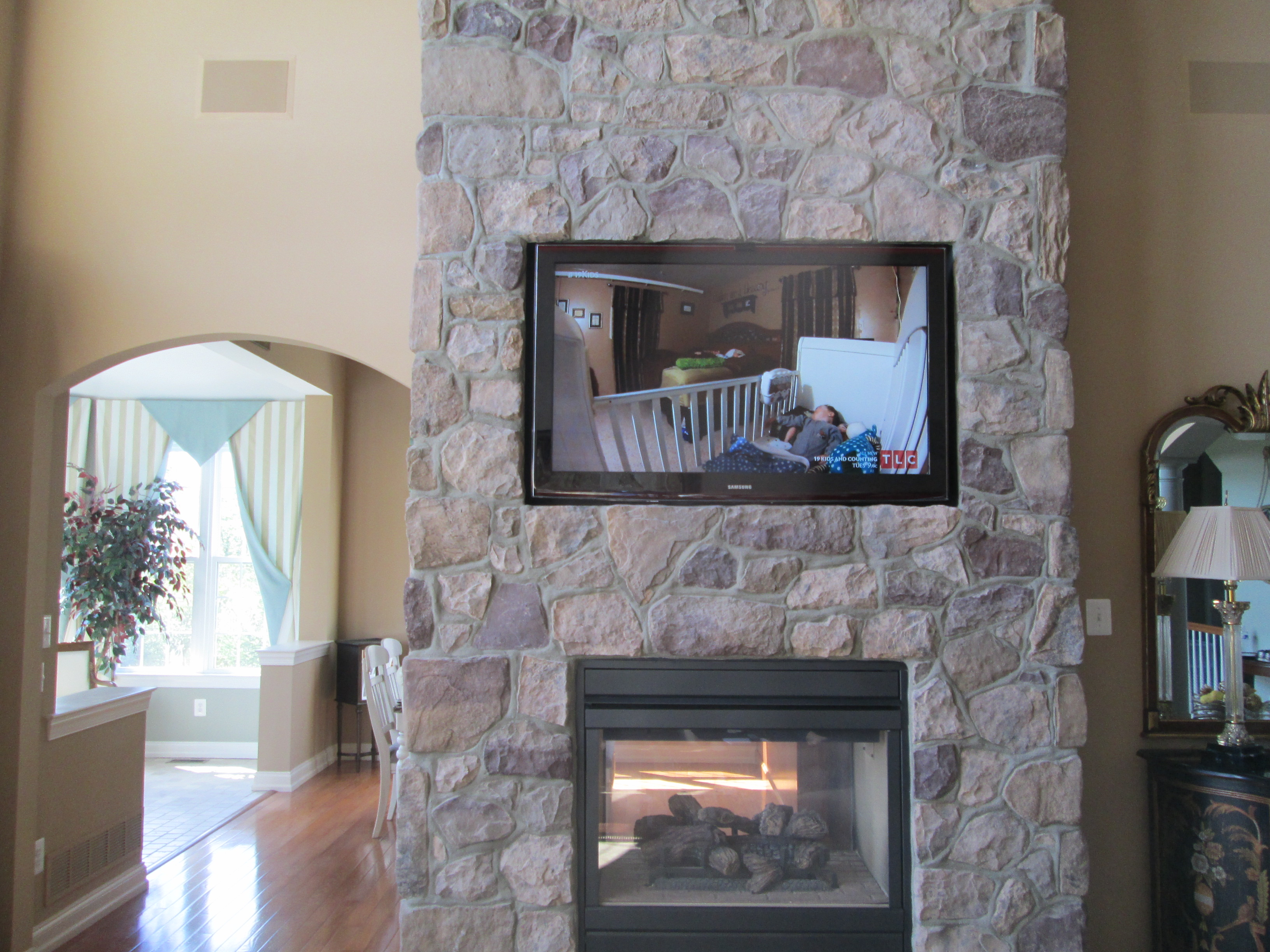 Swell Fireplace Tv Installations Bucks County Fireplace Tv Download Free Architecture Designs Ferenbritishbridgeorg