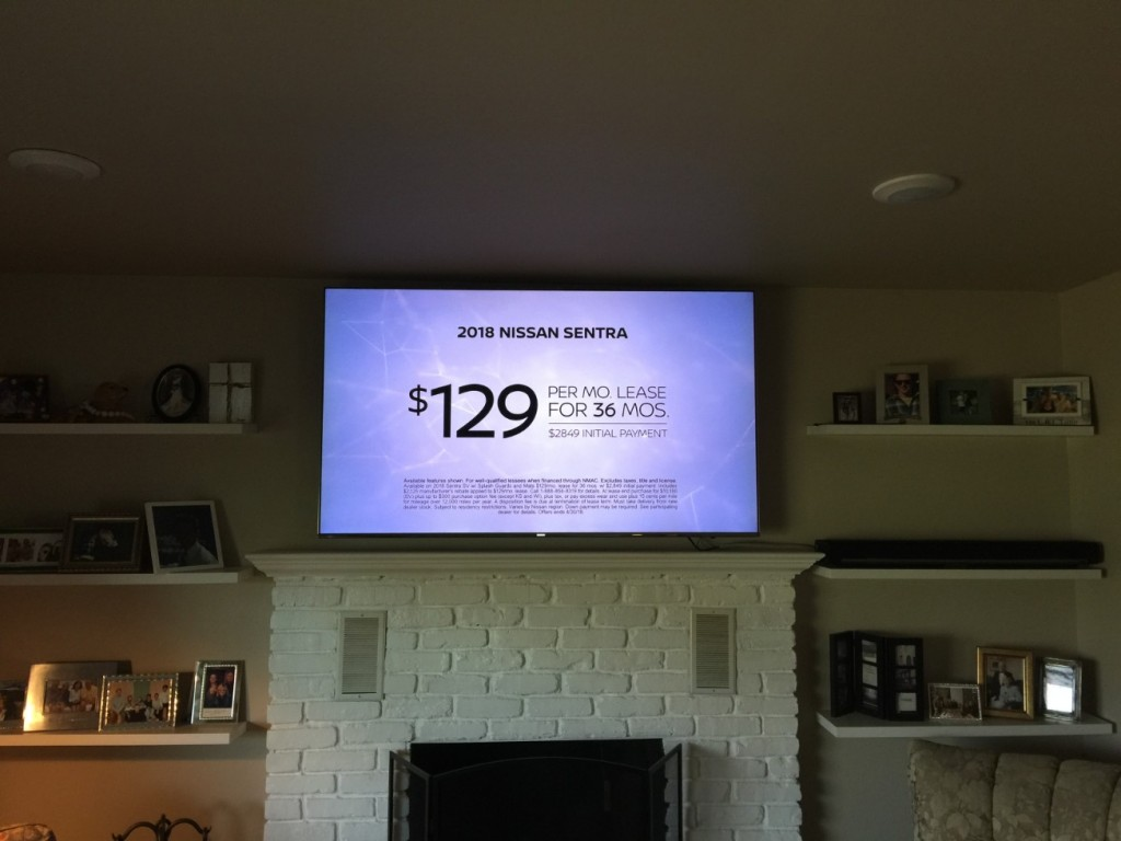 Brick Fireplace TV Installation