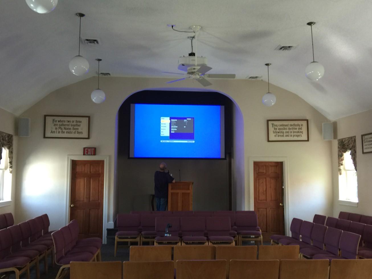 Church Projector Installation Hatboro