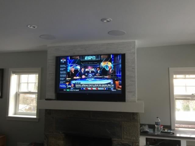 Fireplace TV Installation