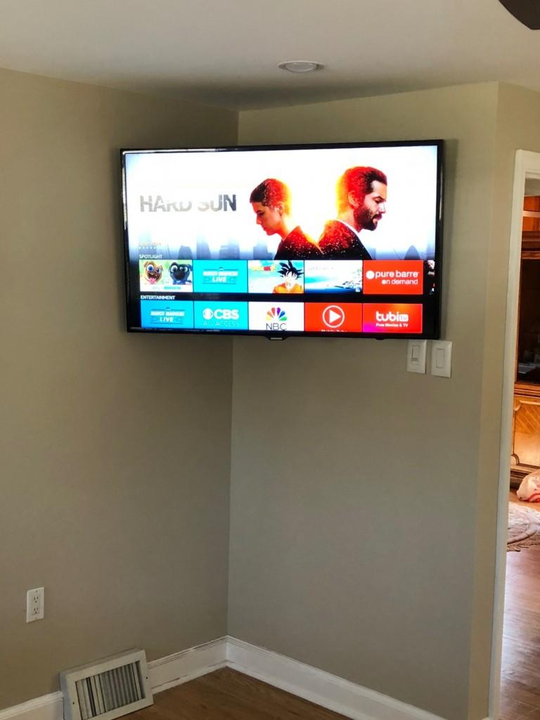 Residential Corner Mount TV Installation Ambler