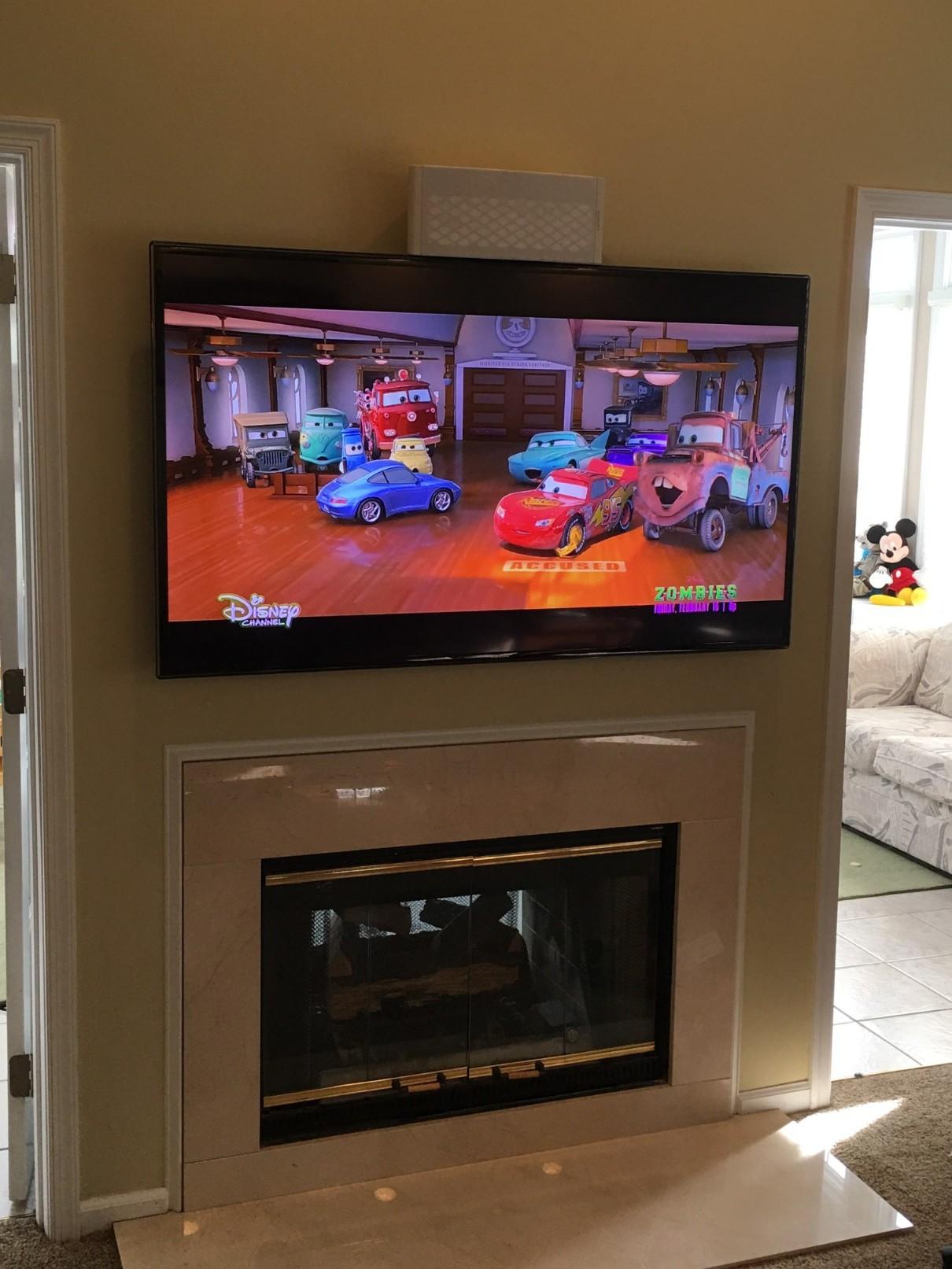 Residential Fireplace TV Installation Jamison