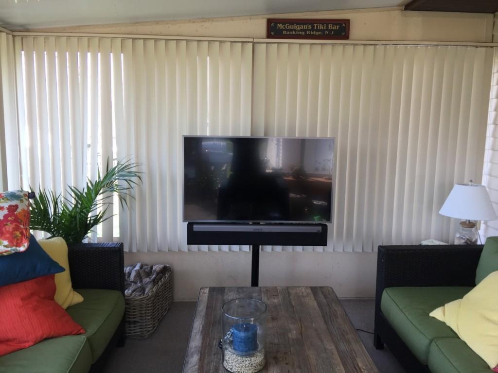 Sunroom Flat Panel Installation